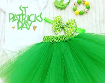 St. Patrick's Day Outfit, St. Patty's Tutu Outfit, Baby Girl St. Patrick's Day Tutu Set, St. Patrick's Day Tutus, Girl's St. Patty's Outfit