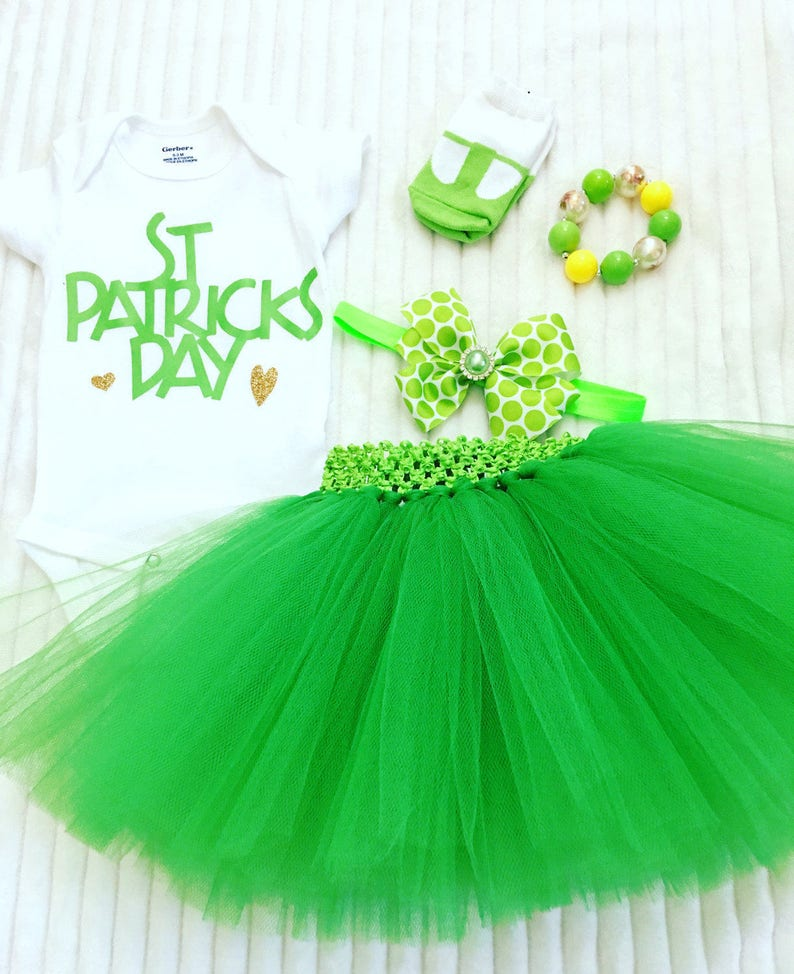 St. Patrick's Day Outfit St. Patty's Tutu Outfit image 0