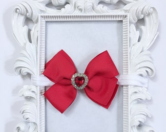 Red Hair Bow, Red Hair Bow For Girls, Baby Red Hair Bow, Toddler Red Hair Bow, Girls Red Hair Bow, Red Boutique Hair Bow, Toddler Hair Bows