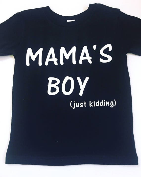 d9f161f4c Mama's Boy Shirt Boy Mom Shirts Mom Of Boys Tee Shirts | Etsy