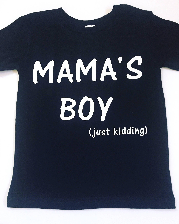 52f70214 Mama's Boy Shirt Boy Mom Shirts Mom Of Boys Tee Shirts   Etsy