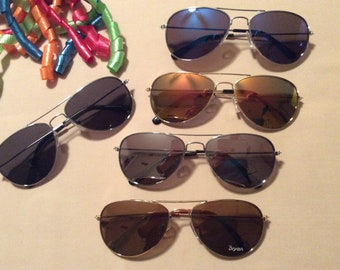 a35d43ba14c PERSONALIZED AVIATOR SUNGLASSES for Boys and Girls Ages 7 to 12. Name engraved  Free!