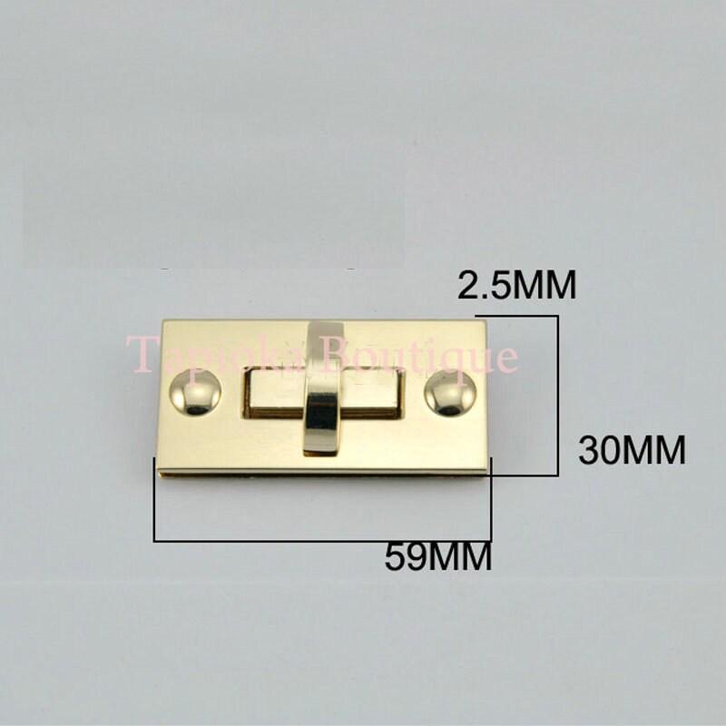 10 morceaux de torsion belle serrure 30 mm mm, x 59 mm, mm décoratif, matériel pour sac à main et sacs à main et accessoires ae8381