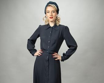 long sleeved 40s blouse dress Lauren