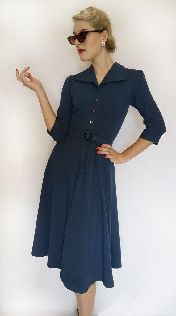 bell shaped 40s dress