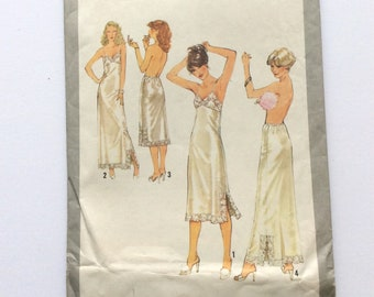 Simplicity 8862, Women's Slips and Half Slips Pattern, Size 12, Uncut Vintage Pattern