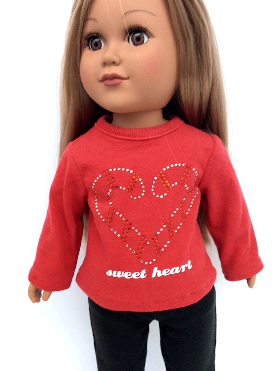 """Sparkly Hearts//Navy Leggings for 18/"""" Doll American Girl Doll Clothes"""