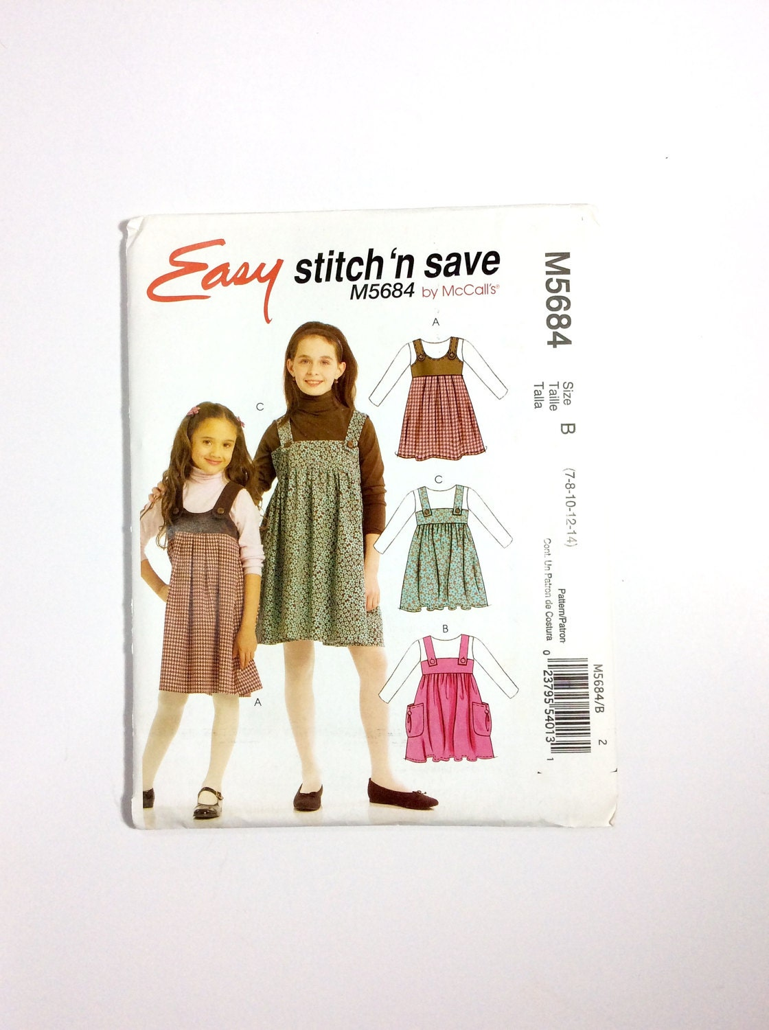 Easy Stitch \'n Save by McCall\'s M5684 Girls\' | Etsy
