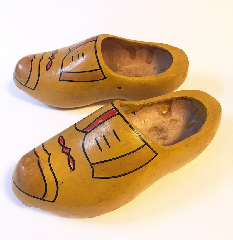 Vintage Wooden Dutch Clogs