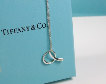 631ad7915 Tiffany & Co Elsa Peretti Letter A Alphabet Pendant Necklace Sterling Silver