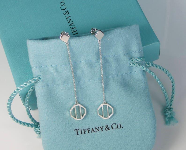 dcd8dc75c Tiffany & Co Silver Picasso Zellige Dangling Dangle Long | Etsy