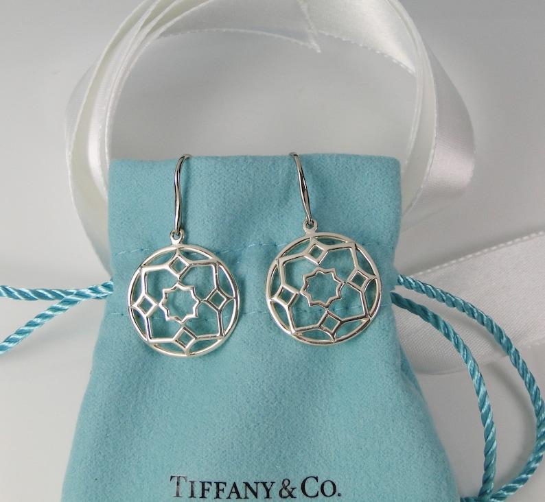 f62ce8f36 Tiffany & Co. Paloma Picasso Silver Zellige Medallion Drop | Etsy