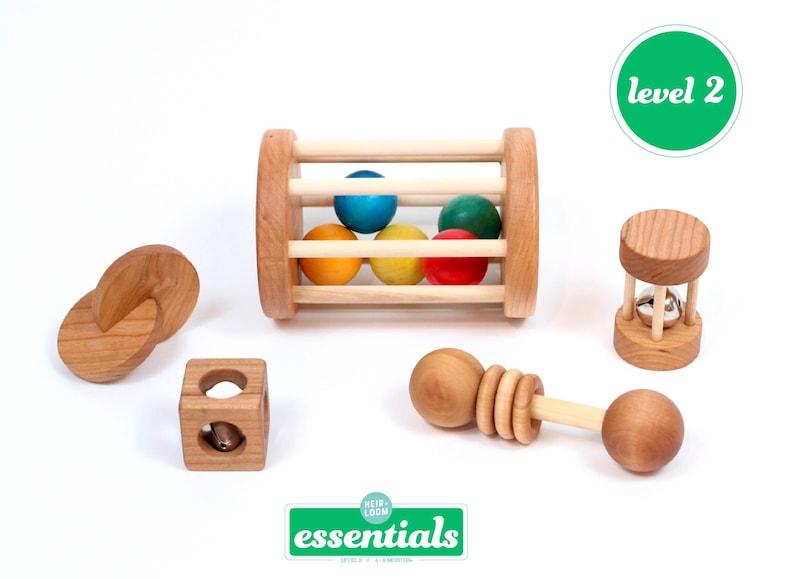 Montessori 4-8 Month Baby Set of 5 Toys  Montessori Infant image 0