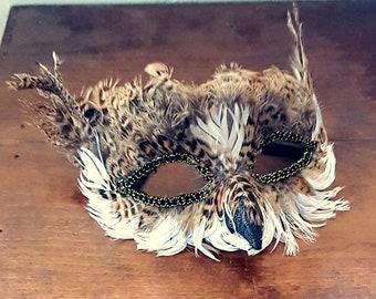 Feather Mask Festival Formal Fancy Dress Woodland Creature Dress Up Luxury Mask