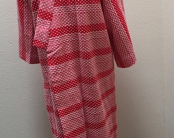 Vintage Japanese Handmade Cotton/Wool Blend Knit With Silk lining Winter Robe