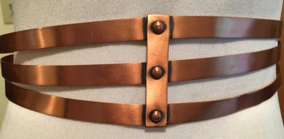 Beautiful Vintage 1950's Renior Copper Belt - image 2