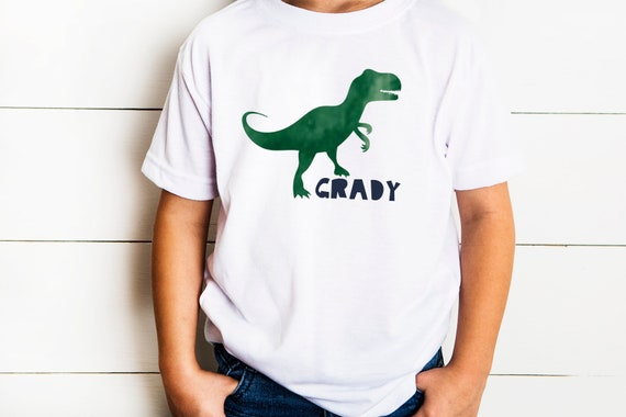 Dinosaur Birthday Party Personalized Shirt Coordinates With