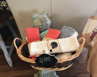 Hand crocheted dishcloth