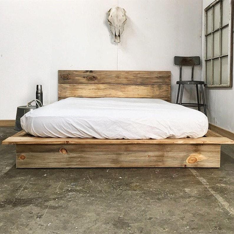 8573bd17f99f Ol  Weathered Plank Low Pro Rustic Modern Platform Bed