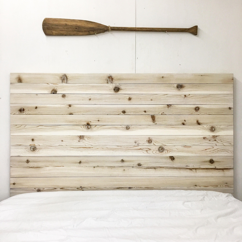 Rustic Beach Wood Whitewashed Barn Wood Style Headboard