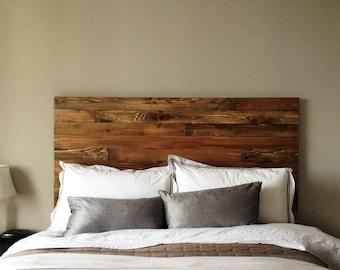 Cedar Barn Wood Style Headboard - Modern Rustic - Handmade in USA