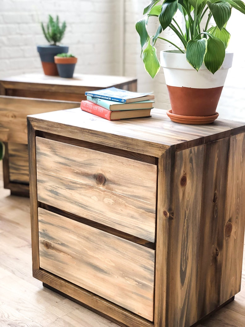 The Trapper Farmhouse and Loft Style Modern Rustic End Table American Made