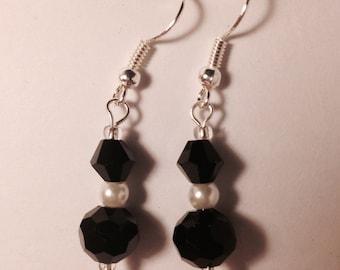 Elegant Monotone Drop Earrings