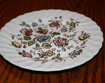 Johnson Brothers Stoke-on-Trent England Staffordshire Ironstone Bouquet Bread Plate