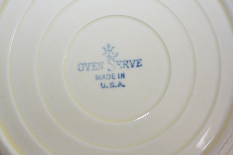 Mid Century Homer Laughlin Oven Serve Plate Made in USA