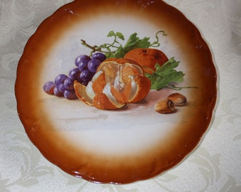 Petrus Regout & Co. Plate with Fruit made in Maastricht Holland ca.1900