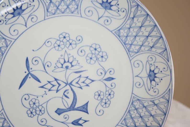 4 Stavangerflint Plates 1960/'s in Mountain Blue Design Made in Norway