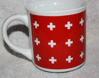 Vintage Switzerland Mug a Creation of Melpa Bulle
