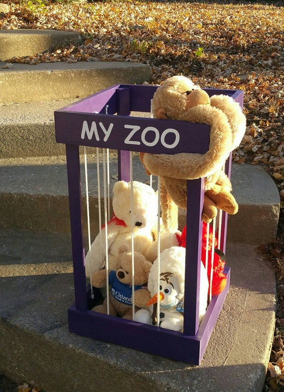 My Zoo Stuffed Animal Toy Storage Organization Wooden
