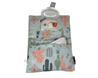 Llama Diaper Clutch with wipes window pocket, side loop for wrist strap, and machine washable- Ready to Ship