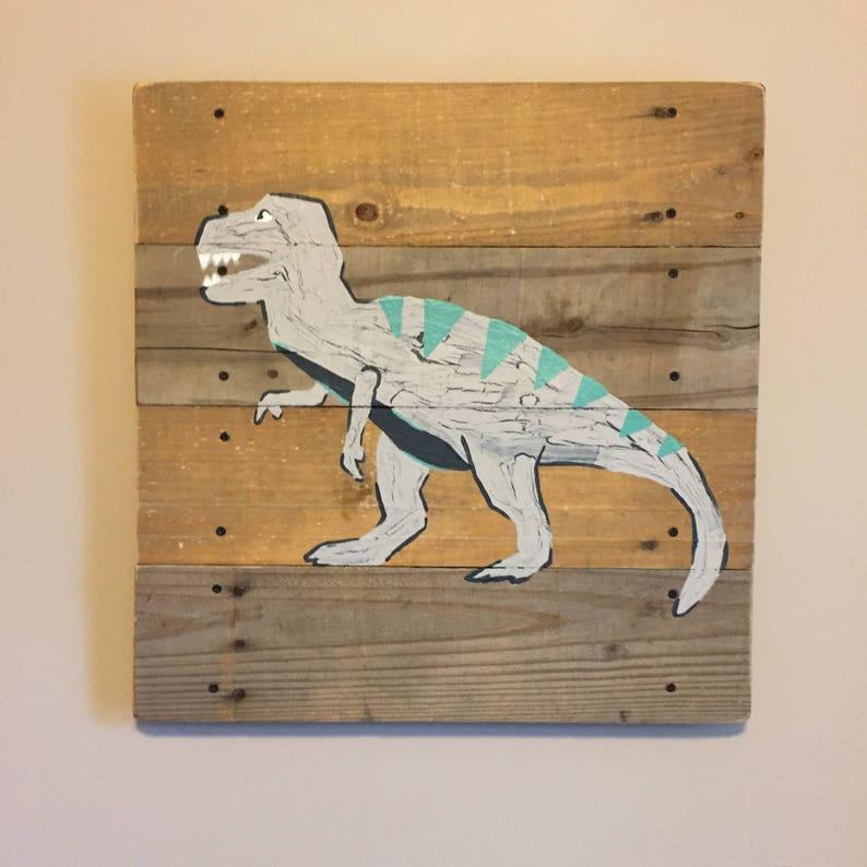 Dinosaur 14x14 T Rex Pallet Art Dinosaur Art Etsy