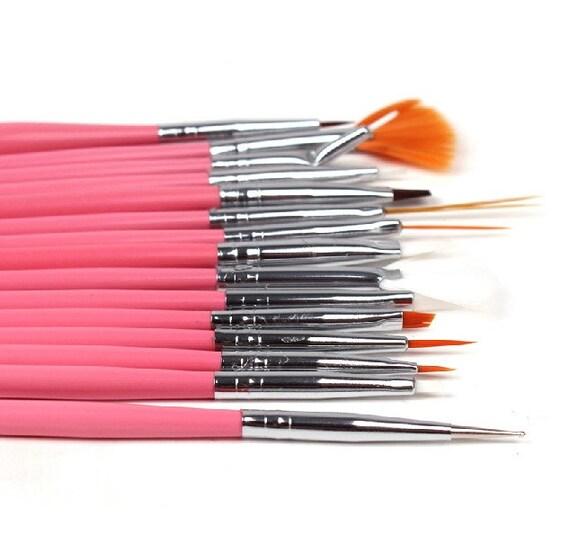 15pcs Nail Art Brushes Uv Gel Painting Drawing Dotting Pen Etsy