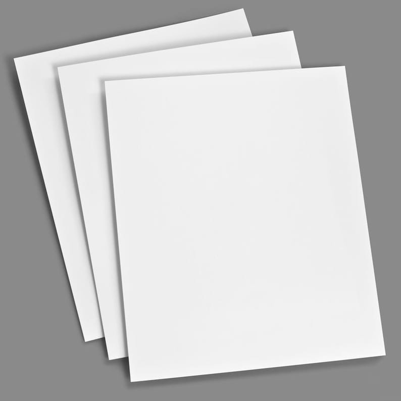Blank Do-it-Yourself Classic White 8.5x11 Cardstock
