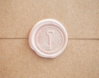 Key to My Heart Wax Seal   Custom Chastity Gift   Love Wax Seal Stamp