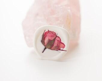 Pink Rose Wax Seal