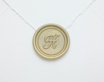 H Initial Wax Seal Stamp | Letter Wax Seal