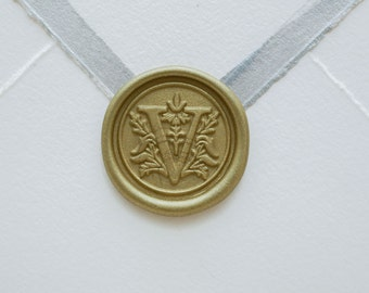 V Letter Wax Seal | Initial Wax Seal Stamp