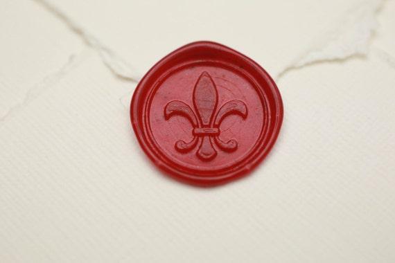 Cachet De Cire De Fleur De Lys Faire Part De Mariage Medieval Cadeau De Renaissance