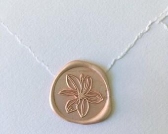 Magnolia Wax Seal | Flower Wax Seal Stamp | Plant Wedding Invitation