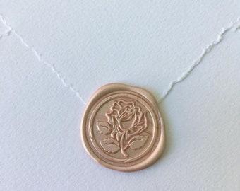 Elegant Rose Wax Seal | Fancy Flower Wax Seal Stamp | Romantic Gift