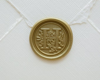 H Letter Wax Seal | Initial Wax Seal Stamp