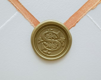 S Letter Wax Seal | Initial Wax Seal Stamp