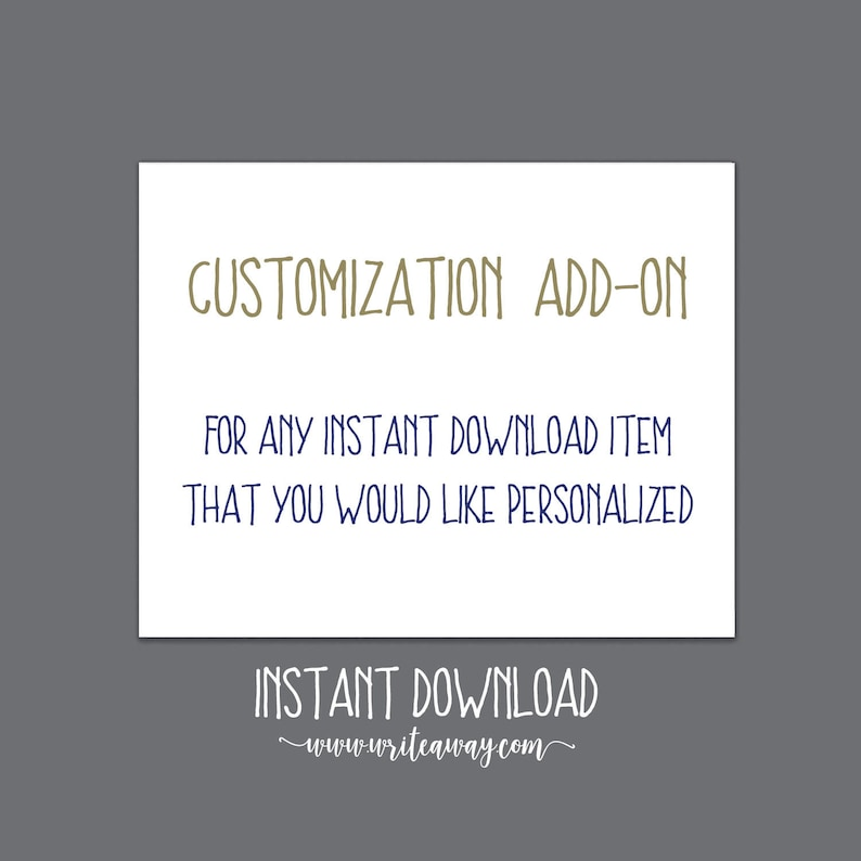 Customization Add-On image 0