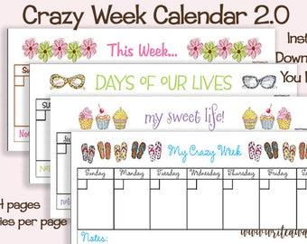 Crazy Week Calendar 2.0