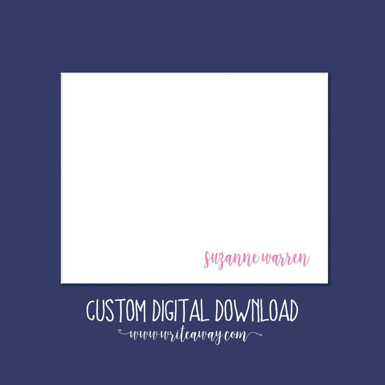 Classy 5x7 Note Card image 0