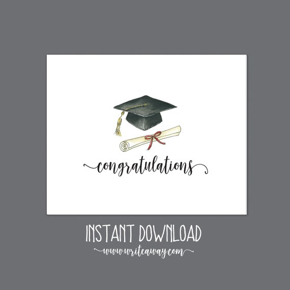 graphic regarding Printable Graduation Cap named Printable Commencement Notice Playing cards Instantaneous Down load Printable Commencement Cap Commencement Observe Playing cards